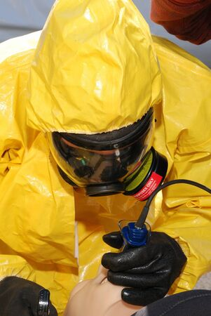 Medical intervention of a hazardous material contaminated patient