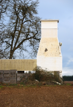 Old Abandoned Barn in Brooks Oregon near Salem