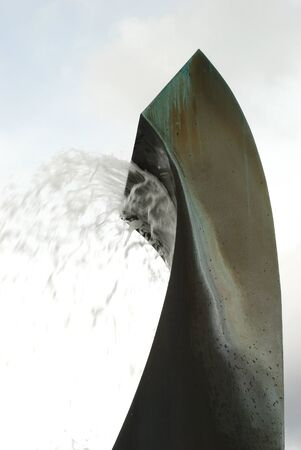 known: This is the Oregon Capital Fountain also known at the Sprague Memorial Fountain by sculptors Weltzin Blix and Tom Morandi built in 1979 and the spring flowers