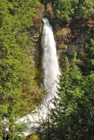 Mill Creek falls to the Upper Rogue River near Prospect OR along the Tiller Trail Hwy  photo