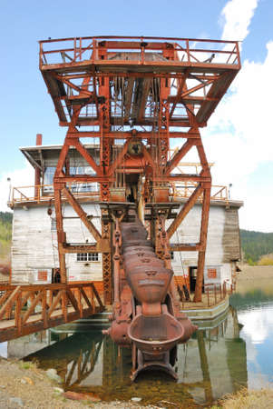Sumpter Valley Dredge  3 was launched in 1935 and was built substantially from parts of the first dredge  Stock Photo - 18809776