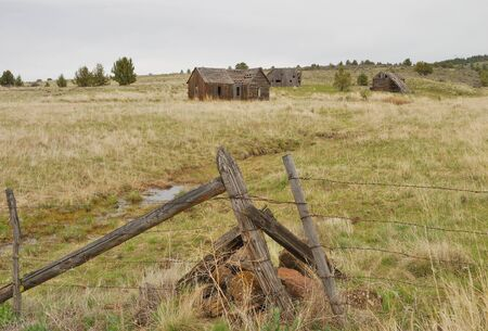 Old homestead found along State Hwy 395 just south of the near ghost town of Fox Oregon  photo