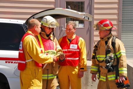 ammonia: Operaciones de comando en Klamath Falls Dispara a Haz Mat Outreach v�deo fuga de amon�aco simulado en una instalaci�n con una entrada de nivel