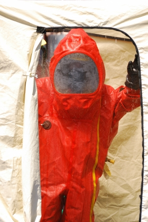 Klamath Falls Shoot for Haz Mat Outreach Video  Simulated Ammonia leak at a facility with A level Entry Stock Photo - 18943126