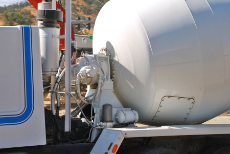 Power unit of a concrete mixer n a new business development project in Roseburg Oregon Stock Photo - 19838058