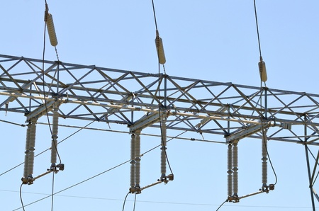 sub station: High tension powerlines meet a sub station in California
