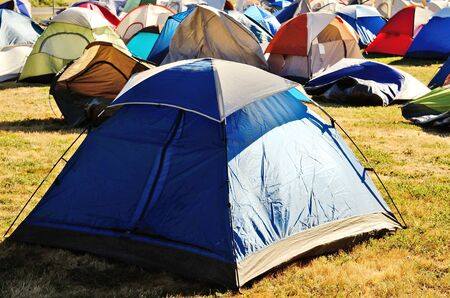 tent city: Tent City at  fire camp from the Douglas Complex fires near Glendale Oregon on July 28, 2013