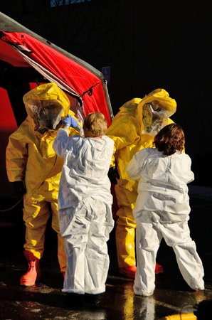 encapsulated: Hazardous materials response to a hospital were contaminated victims showed at the ER entrance  drill  Editorial