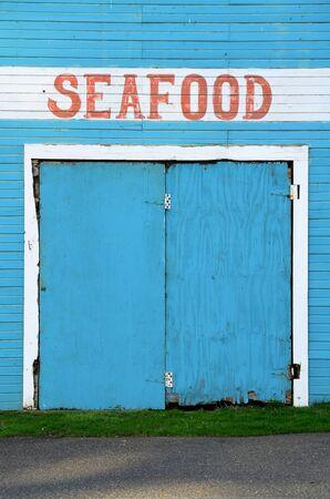 coquille: Bandon Oregon Mercato del pesce nei pressi della Citt� Vecchia, lungo il fiume Coquille Archivio Fotografico