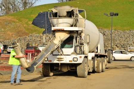 concrete: Pouring a foundation for a new commercial building in Roseburg Oregon