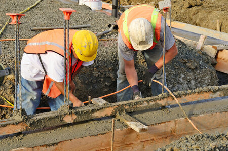 Pouring a foundation for a new commercial building in Roseburg Oregon
