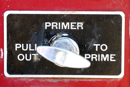 primer: Engineers pump panel controls on a older fire engine sitting in an auction yard near Sutherlin Oregon