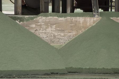 nickle: Piles of old nickle slag at a processing plant making sand blasting media.