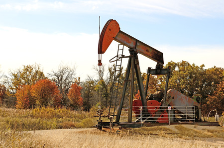 pumpjack,  nodding donkey,  horsehead pump, rocking horse, beam pump, dinosaur, sucker rod pump, grasshopper pump, Big Texan, thirsty bird, or jack pump  is the overground drive for a reciprocating piston pump in an oil well  in eastern Texas photo