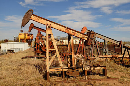 dug well: pumpjack, (nodding donkey,  horsehead pump, rocking horse, beam pump, dinosaur, sucker rod pump, grasshopper pump, Big Texan, thirsty bird, or jack pump) is the overground drive for a reciprocating piston pump in an oil well. in eastern Texas