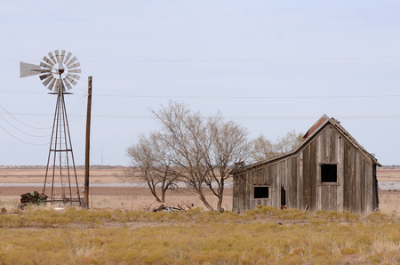 Old abandoned hometead in the grasslands of northeastern Texas photo