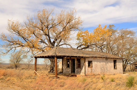 Old abandoned homestead or house along Route 66 in northern Texas photo