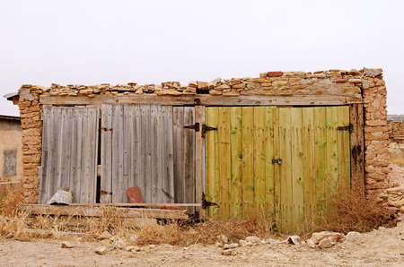 mud house: Interesting old buildings in a northeastern New Mexico town Stock Photo