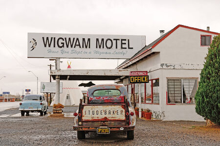 HOLGATE, AZ, USA - NOVEMBER 20, 2013: Wigwam Motel in Holgate Arizona along the original Route 66 remains as a reminder of yesterdays
