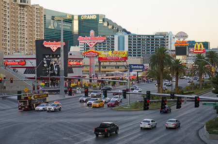 sin city: The famous Las Vegas Strip, Nevada. in the city that never sleeps also known as Sin City