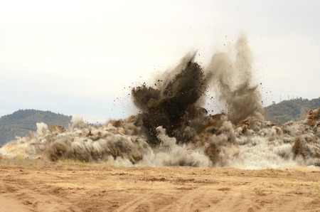 the blasting of shale rock