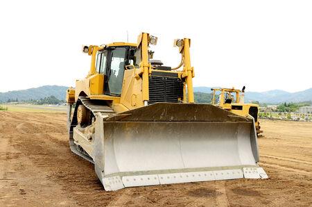 A large bulldozer at an construction site Stock fotó