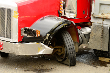 resulted: A four vehicle accident involving two large trucks resulted in a single injury and a diesel fuel spill. July 17, 2012 in Roseburg Oregon