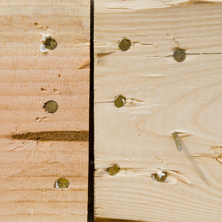 custom home: Framing construction nail detail of a wood frame wall of a new luxury custom home