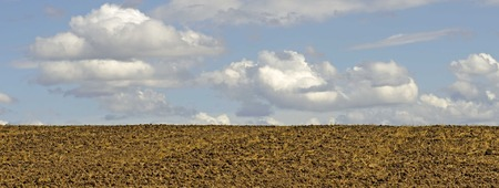 recently: Recently plowed and harrowed field being preped for planting in rural Oregon Stock Photo