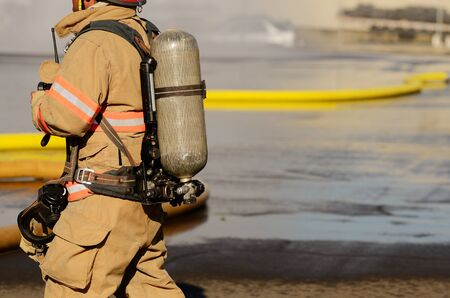 turnouts: Firefighters on using large volume appliance water delivery