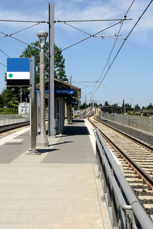 transit: City mass transit station in Oregon Editorial