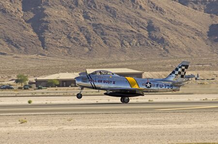 north american: North American F-86 Sabre, Nellis Air Force Base, Naci�n Aviaci�n 2014 Airshow Editorial