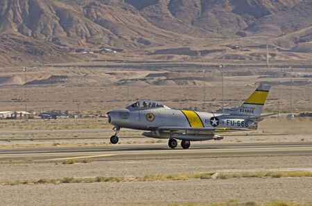 north american: North American F86 Sabre Nellis Air Force Base Aviation Nation 2014 airshow