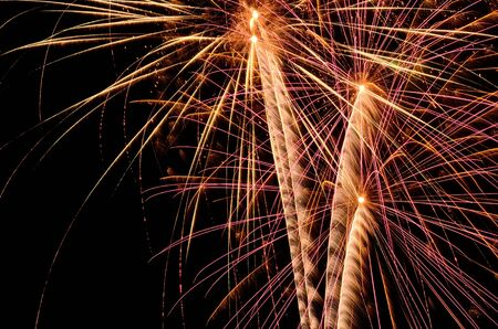 glow pyrotechnics: Fireworks at a 4th of July, Independence Day celbration in Oregon