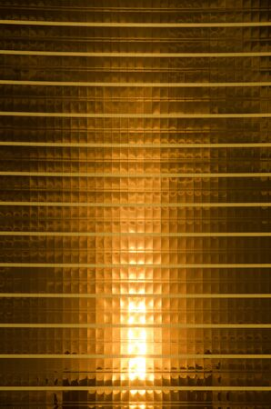Las Vegas  November 11 2014: The sun reflects off the golden windows of the Wynn Hotel and Casino on the Las Vegas Strip