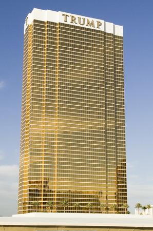 Las Vegas  November 11 2014: Trump International Hotel tower on the Las Vegas Strip