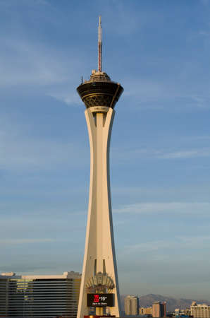 Las Vegas  November 12 2014: Stratosphere Hotel and Casino on the Las Vegas Strip The tower is the tallest building in Las Vegas