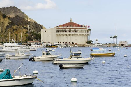 catalina: Old Casino building  now a museum in the harbor at the port of Avalon on Catalina Island California