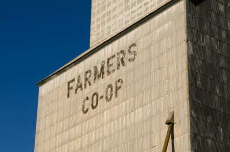 agricultural area: Large commercial grain silo sits in agricultural area of Oregon