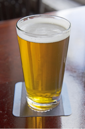 Concept of the cost of craft beers at a Oregon microbrew pub Stock Photo