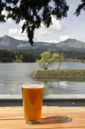 Concept of a craft beer at a Oregon microbrew pub Stock Photo