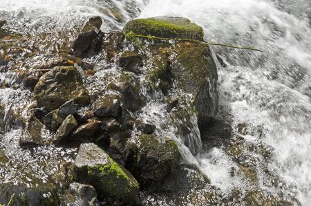 Wahkeena Fälle in der Columbia River Gorge National Scenic Area Standard-Bild - 44982600
