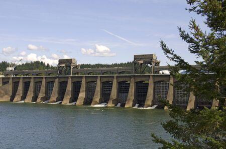 Bonneville dam spillway on the Columbia River