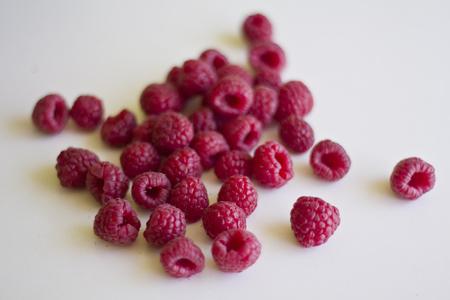 Fresh raspberry on white background Banco de Imagens