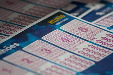 Portugal, 9 October May, 2017: Lottery ticket Euromillions, Portugal Editöryel
