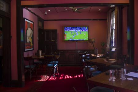Empty sports bar indoor Editorial