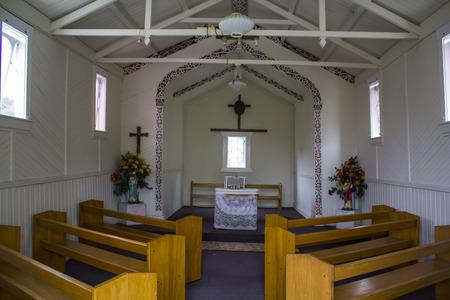 Maori Catholic Church interior Editorial