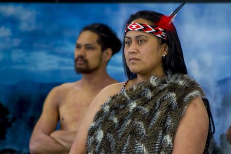 New Zealand native Maori portrait