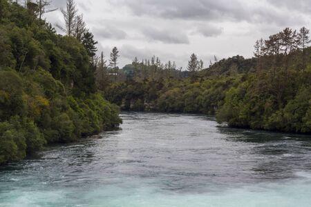 Huka falls and waikato river landscape