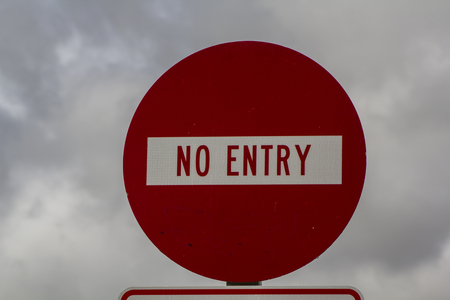 No entry red sign